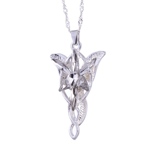 Image 2 - The Lord of the Rin gs Necklace Evening Star Pendant Necklace crystal Twilight star pendant necklace women jewelry wholesale Hot