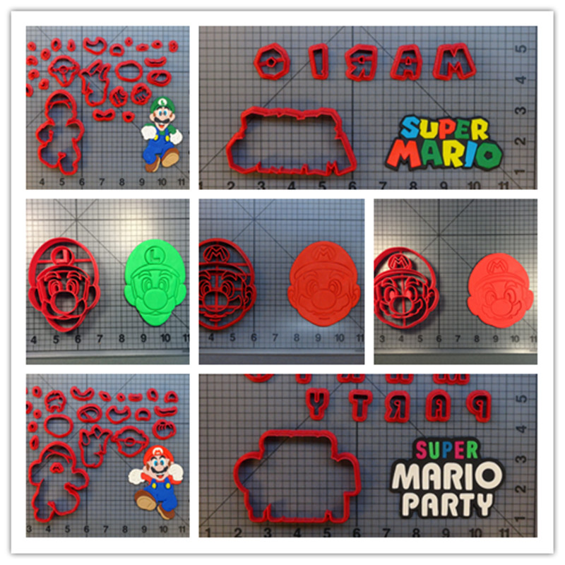3D printed vedio game Full Body mario Cookie Cutter Cake Baking Mould Custom 3D printed Fondant Cutter Cake Decorating Tools