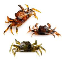 10cm Saltwater 3D Crab Lures Bass Wrasse Cod Sea Fishing Hook Tackle Bait оснастка морская fladen deep sea rig for cod