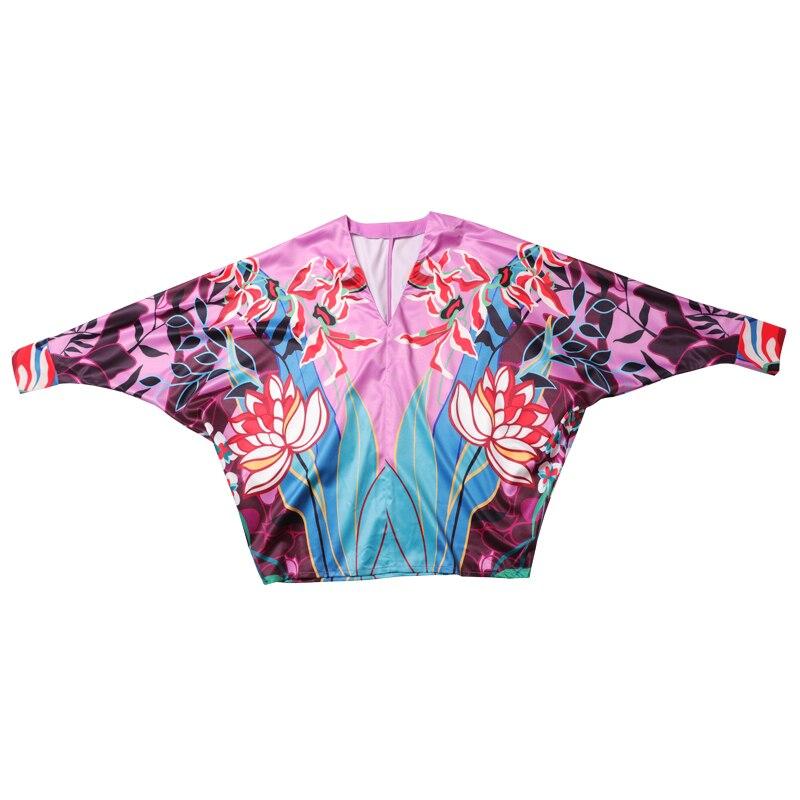 SEQINYY Purple Set 2020 Summer Spring New Fashion Design Women Long Sleeve Blouse + Pleated Long Skirt Flowers Print Suit