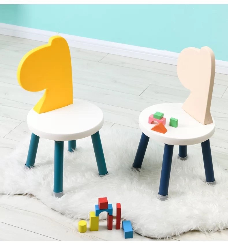 Small Kids Chair Bench Kindergarten Children Stool Chaise Enfant Portable Early Education Cartoon Nordic Lovely Taburete Madera