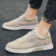 Г., летняя модная универсальная повседневная обувь в Корейском стиле льняная парусиновая обувь дышащая мужская обувь для студентов Белая обувь
