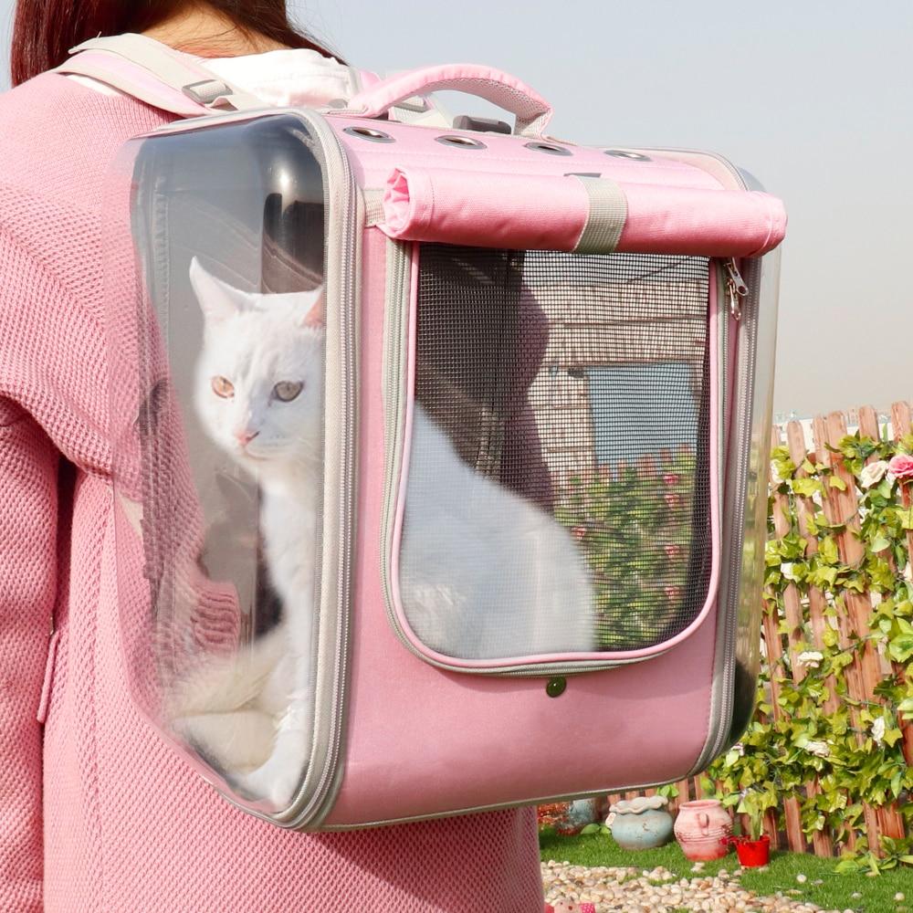 Рюкзак для переноски кошек, дышащий рюкзак для путешествий с кошками, сумка на плечо для маленьких собак, кошек, переносная упаковка, товары ...