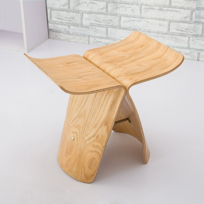 Small Creative Stool, Small Stool, Low Stool, Living Room Chair, Butterfly Stool, Wooden Stool, Shoe Stool, Fashion