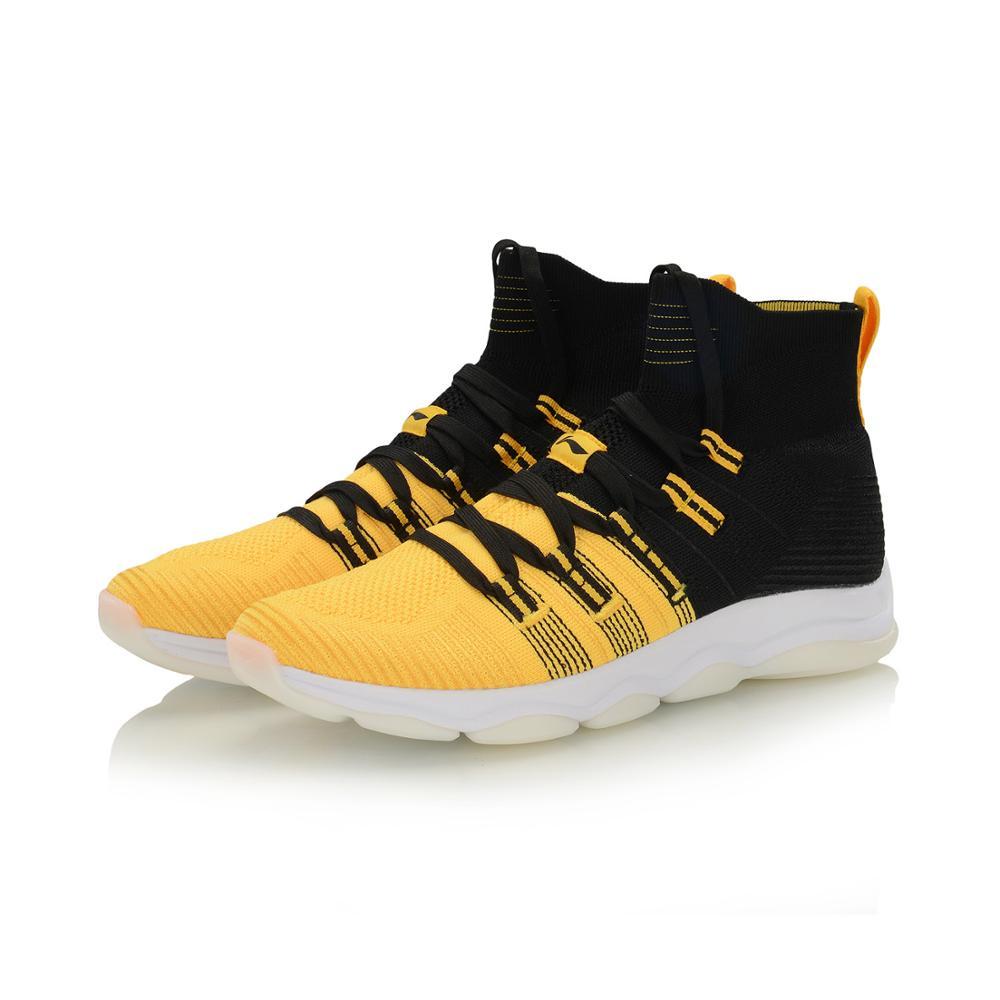 Li-Ning Men NO BOUNDARIES Cushion Training Shoes Mono Yarn Breathable High-Cut LiNing Sport Shoes Sneakers AFJP027 YXX064 37