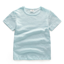 Baby Boys Girls Summer T-shirt Kid 100% cotton candy color Tops Tees T Shirt Tshirt Size 1-8 Years Children Cotton Clothing