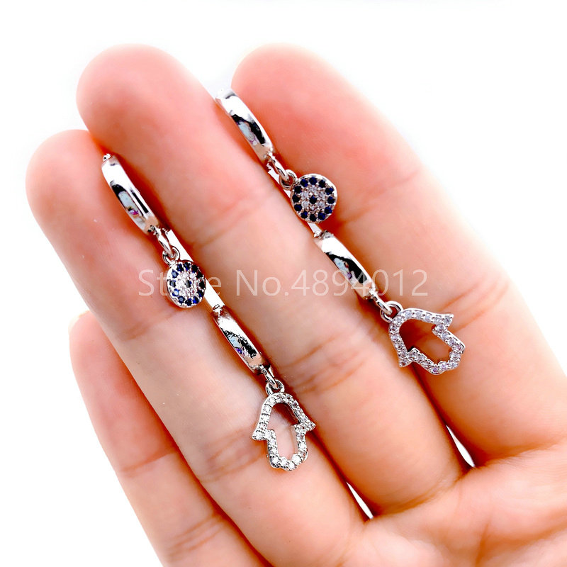 10pairs,Women Dangle Earrings,Fashion Jewelry,CZ Setting,Hands Shape for Women,Can Wholesale