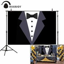Allenjoy backdrop for photography Suit gentleman boy adult ceremony birthday party background photozone photocall