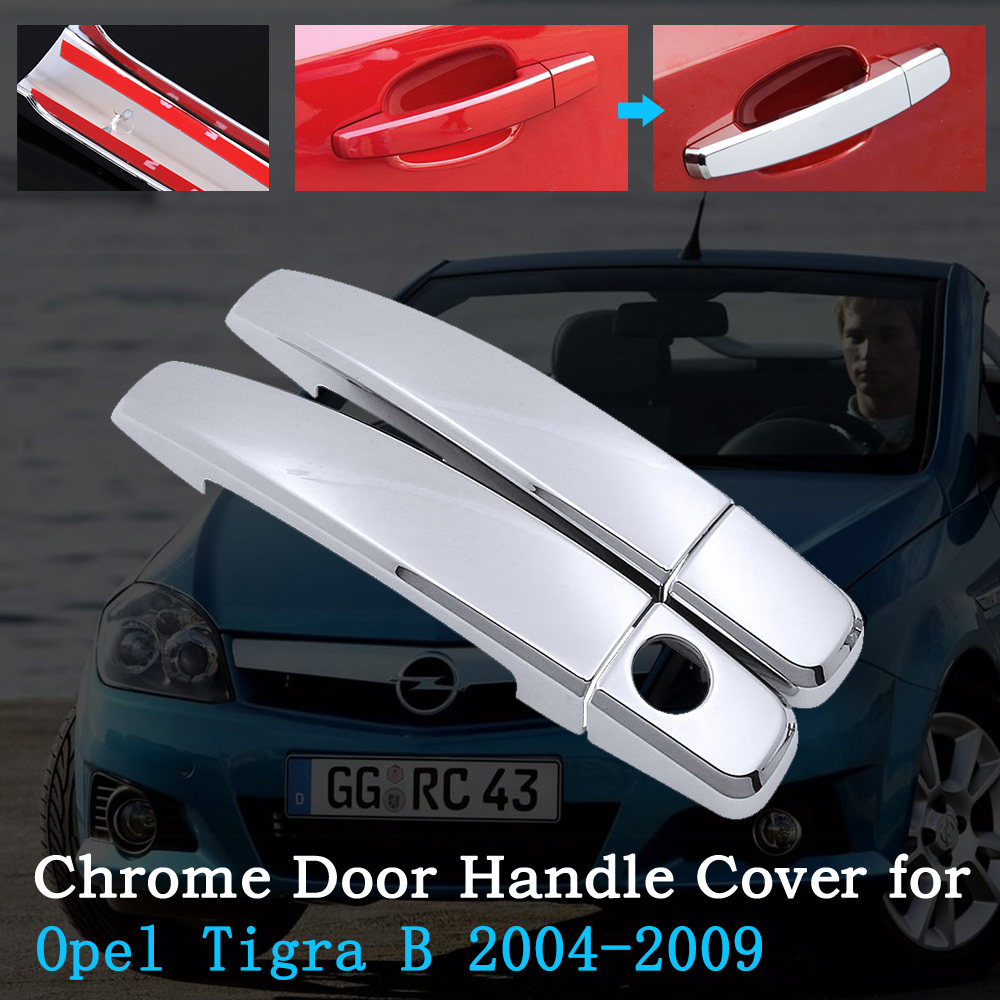 Chrome Car Door Handle Cover for Opel Tigra Vauxhall TwinTop Holden Tigra...