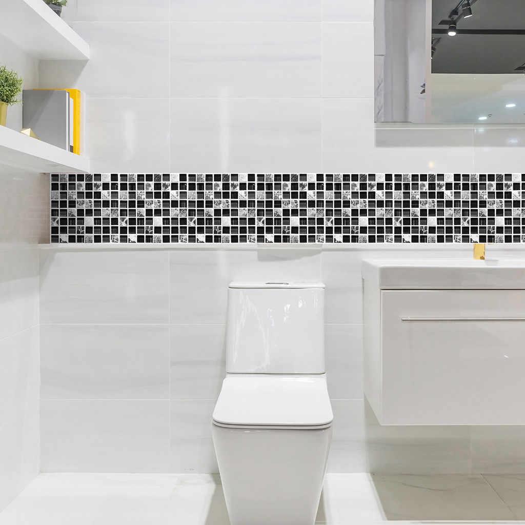 מדבקות על קיר עבור בית אופנה חדר קישוט 3D סימולציה אריח מדבקות עיצוב הבית עמיד למים אמבטיה קיר מדבקות
