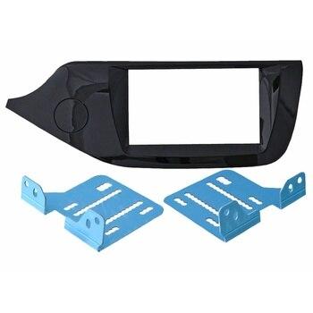 Transition frame KIA Ceed 2012 + 2din (Fasteners) Black Royal glass Incar RKIA-N44
