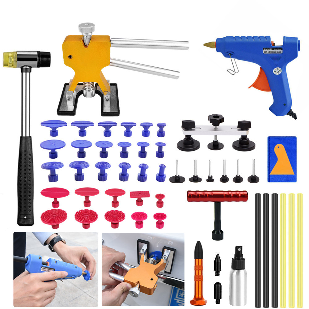 Car Tools Paintless Hail Removal Dent Lifter T-Bar PDR Tools Glue Gun Car Body Repair Kit набор инструментов