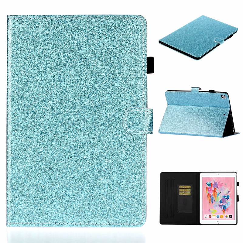 7th Glitter generation Tablet iPad case Bling Wallet Flip Stand Cover iPad Apple For For