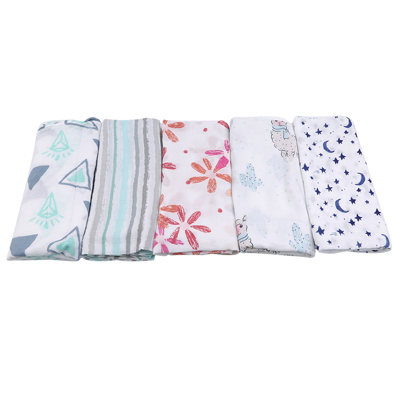 Baby Blankets Newborn Soft Organic Cotton Baby Blanket Muslin Swaddle Wrap Feeding Burp Cloth Towel Scarf Baby Stuff