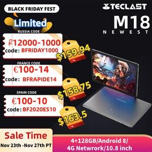 Image 1 - Teclast M18 4G שיחת טלפון אנדרואיד 8.0 10.8 אינץ Helio X27 2.6GHz Deca core מעבד 4GB RAM 128GB ROM 13.0MP + 5.0MP סוג C Tablet PC