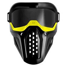 ABKT מסכת מגן משקפיים עבור נרף Blaster החוצה דלת משחקים צהוב
