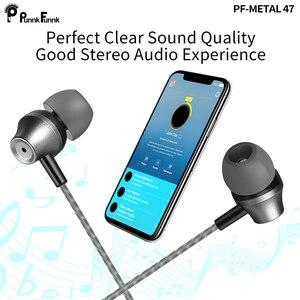 Image 5 - PunnkFunnk מתכת wired אוזניות ספורט באוזן Hifi בס סטריאו אוזניות עבור iPhone סמסונג xiaomi אוזניות fone דה ouvido אוזן