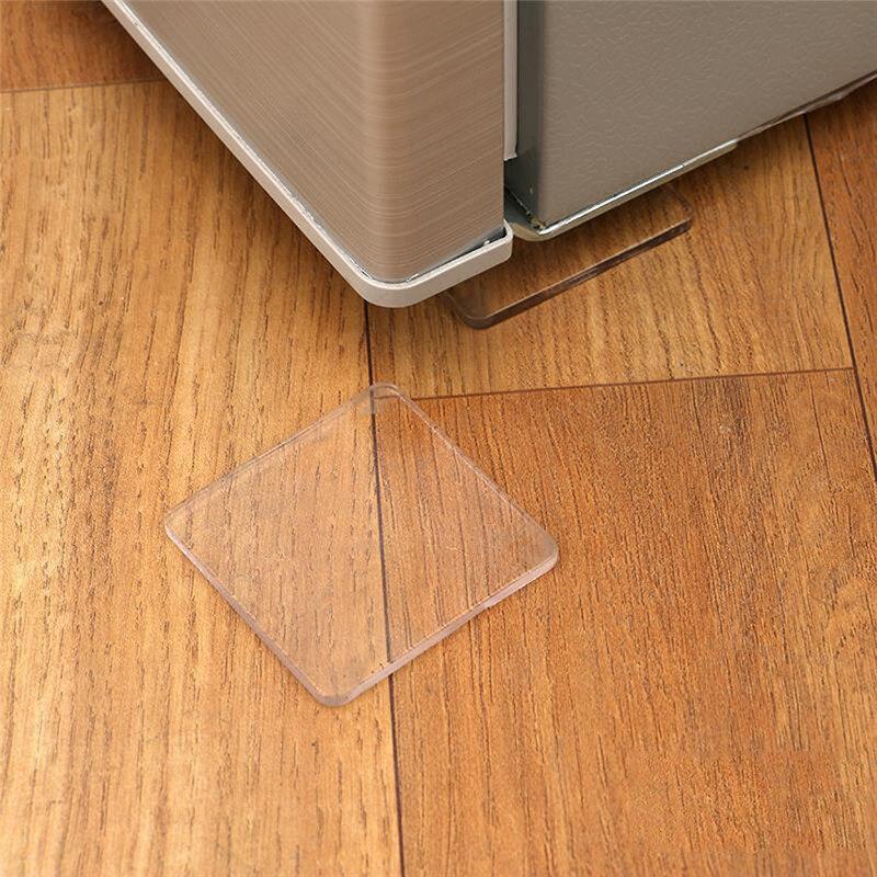 4pcs Washing Machine Anti Vibration Pad Refrigerator Cabinet Shock Proof Non Slip Mat Sofa Tabler Floor Furniture Protectors Pad