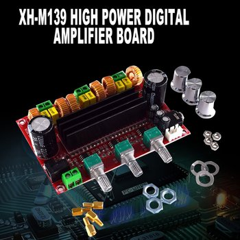 302B 2.1 Channel High Power Digital Power Amplifier Board Tpa3116D2 Power 2*80W+100W Digital Power Amplifier Board tpa3116 2 100w digital power amplifier board dual channel digital audio amplifier board module super bass ampl