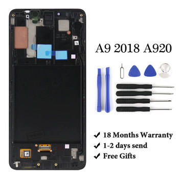 1PCS Super AMOLED LCD For A9 2018 A920 LCD Display For A9 2018 A920 LCD Screen Touch Digitizer Assembly For A9 LCD