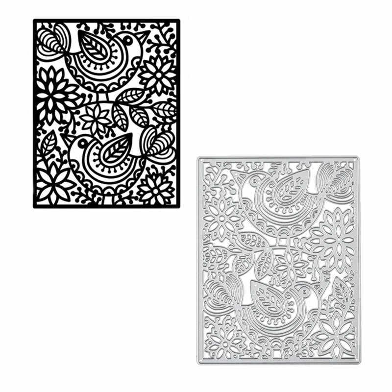 Kokorosa ดอกไม้กรอบตายพื้นหลังตัดโลหะตายใหม่ 2019 สำหรับทำบัตร Scrapbooking Dies ลายนูนกระดาษ Stencil