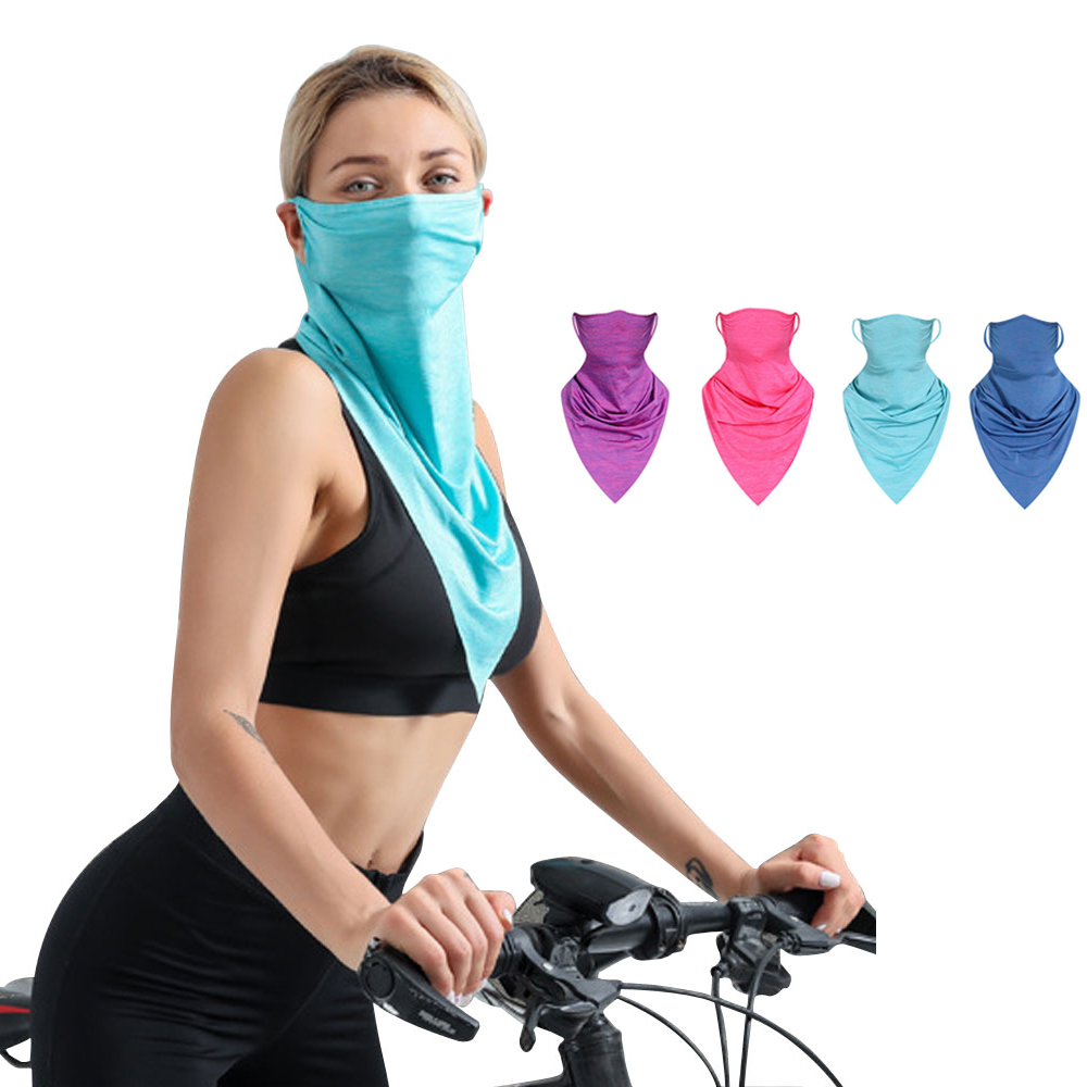 1Pcs Ice Silk Cooling Magic Scarf,Mask For Summer Face And Neck Sun Protection Headscarf Half Mask Outdoors Sport Protection