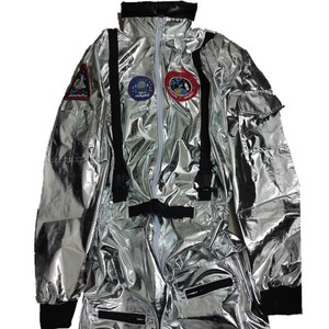 Image 3 - Halloween Silver Pilot Astronaut Alien Spaceman Cosplay Costume Carnival Party Couple One Piece Jumpsuit