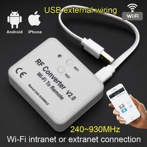 Image 1 - Interruptor WiFi con control remoto, 433MHz, 868MHz, convertidor de WiFi a RF, enchufe de múltiples Frecuencia con código, módulo de relé con interruptor remoto