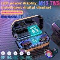 M12 TWS Mini Bluetooth kopfhörer 9D Surround sound Business Ohrhörer sport earbuds Für arbeit alle smartphones drahtlose Kopfhörer