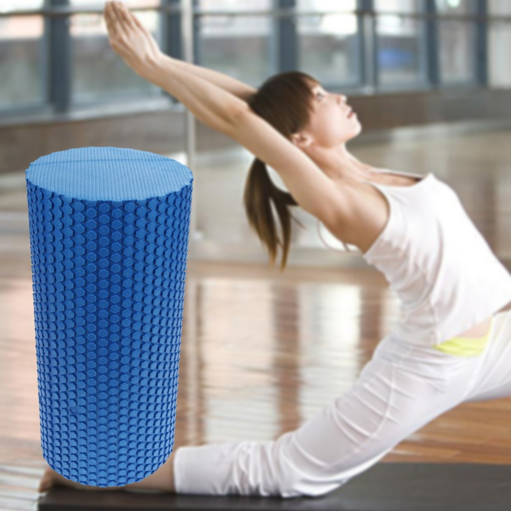 Yoga Foam Roller 30cm Gym Exercise Yoga Block Fitness EVA Floating Trigger Point For Exercise Physical Massage Therapy 3 Colors