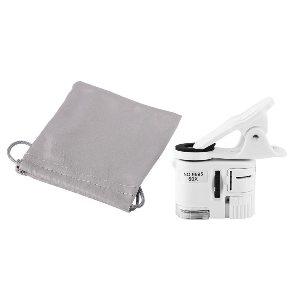 ANENG 9595W Mobile Phone Microscope 60X Magnifying Glass LED UV Light Mini Mobile Phone Clip Microscope