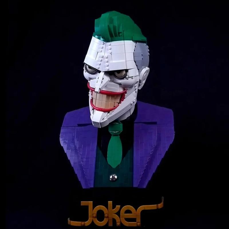 2020 Moc Dc Super Hero The Joker Clown Warrior Bust Mech Batman Robot Armor Building Blocks Sets Bricks Kids Kits Movie