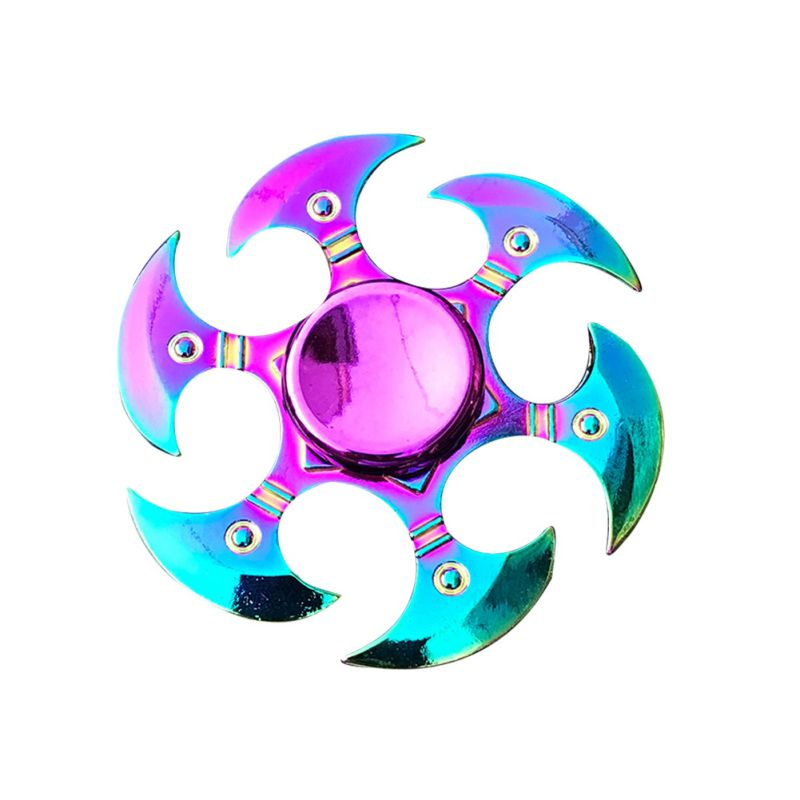 Zinc Alloy Material 2019 Funny Fashion Hand Spinner Stress Relief Colorful Spin For Adult Kid Office People Anxiety Removal Toys