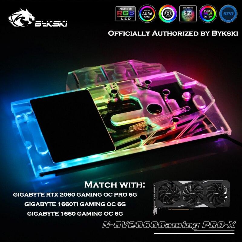 Bykski N-GV2060GamingPRO-X Pleine Cove GPU Bloc D'eau Pour GIGABYTE RTX 2060 1660TI/1660 GAMING OC PRO 6GGraphics Carte Refroidisseur