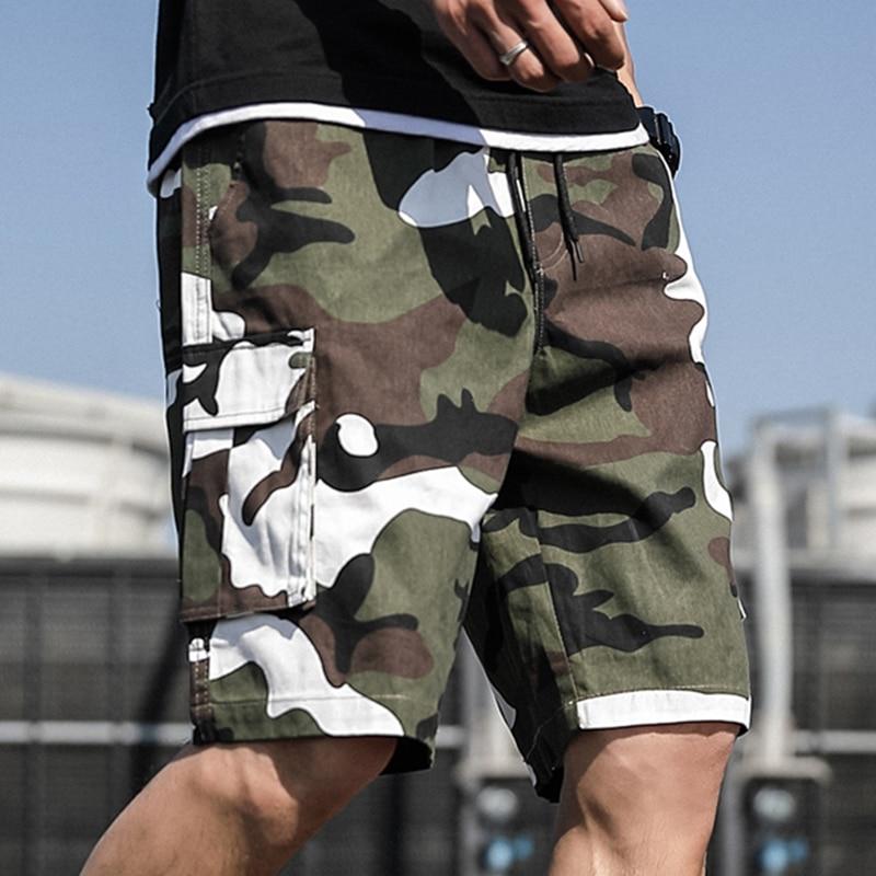 2020 Summer Short Camouflage Casual Shorts Men Streetwear Loose Cargo Shorts Plus Size 5XL 6XL 7XL
