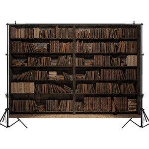 Image 2 - Retro In Legno scaffale Sfondo per la Fotografia della Biblioteca Raccolta Foto Arte Sfondo Sfondi per Foto In Studio