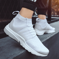 Men Knitted Socks Sneakers Breathable Air Mesh Outdoor Couple Cushion Flats Training Running Off White Shoes Zapatos De Hombre