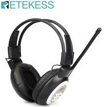 RETEKESS TR101 FM 헤드폰 라디오 수신기 무선 헤드셋 라디오 이어폰 수신기 회의 동시 통역