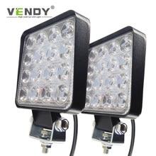 1pcs Led light bar 48w work light 12V 24V Fog Lamp Headlights For The Car 4x4 Offroad SUV ATV Tractor Boat Truck Excavator Auto