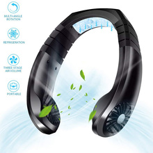 Portable Fan Hands Free Neck Fan Hanging Rechargeable Mini Sports Fans Personal Mini 3 Speed Adjustable For Home Office 42.8°F usb rechargeable wearable portable hand free neckband fan personal mini neck double fans 3 speed adjustable for home office