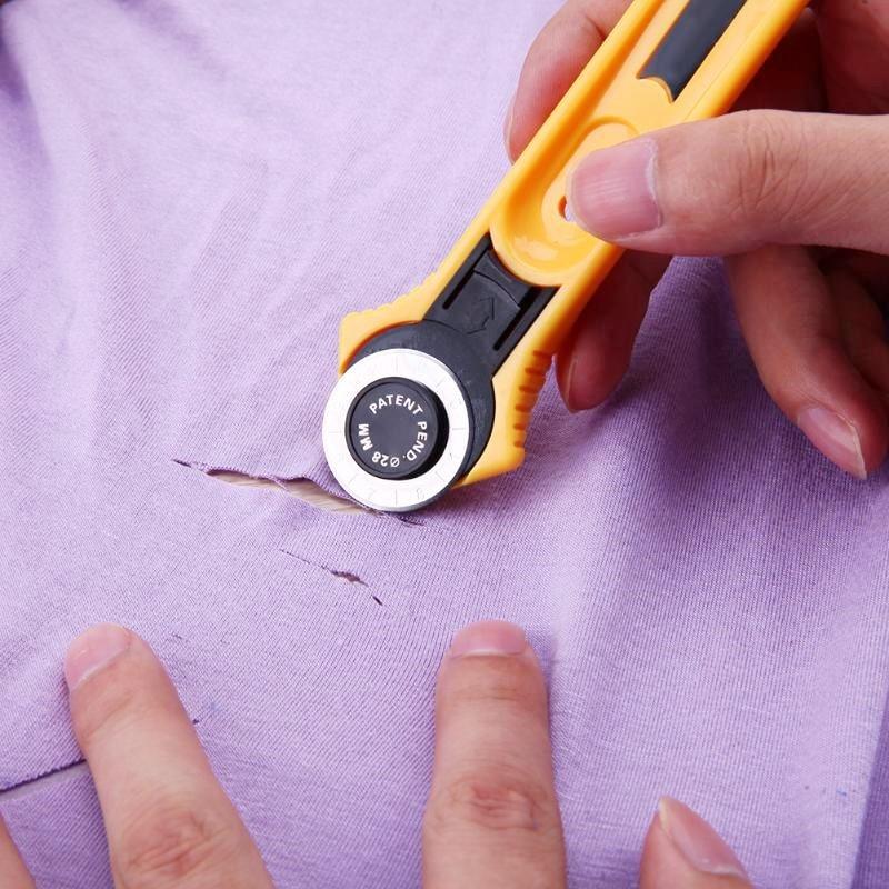 28 мм лоскутное роликовые колеса Ножи нож для резки ткани Ножи кожа Бумага Ткань Ремесло ткани ротационный режущий аппарат для резки Швейные...