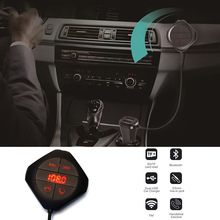 цена на USB Car Kit LCD SD FM Transmitter MP3 Player Magnet Wireless Bluetooth Handsfree Calling OUJ99