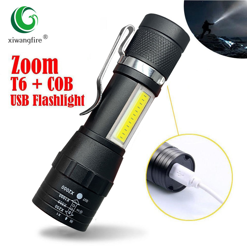 Built In Torch LED Bulbs Rechargeable Emergency Bright Light USB 1200mAh battery