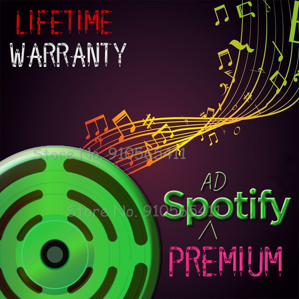 Spotify Premium Lifetime 1 Year warranty Service No Ads Official Download Music Offline No Need To Change 1 Whole Year Player