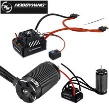 HobbyWing EZRUN SL moteur sans balais à 4 pôles, 4985 1650KV/5687 1100KV, moteur sans balais avec MAX6 160A ESC étanche pour voiture RC 1/6 1/7