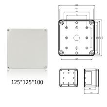 Wasserdichte Kunststoff Elektronische Projekt Gehäuse Abdeckung FALL Box 125x125x100mm cheap Aliyiqi CN (Herkunft) ANALOG Other