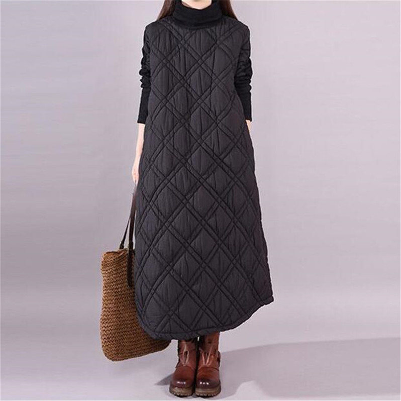2020 Brand elegant Long Women's <font><b>coat</b></font> Plus size Autunm and Winter maxi Jackets M-6XL <font><b>7XL</b></font> black <font><b>coats</b></font> Female Outerwear Parkas image
