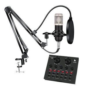 Image 2 - 8Pcs/set Bm 800 Microphone Kit For Computer 7 Colors With V8 Sound Card Professionnel Microfone Studio Microfono Condensador