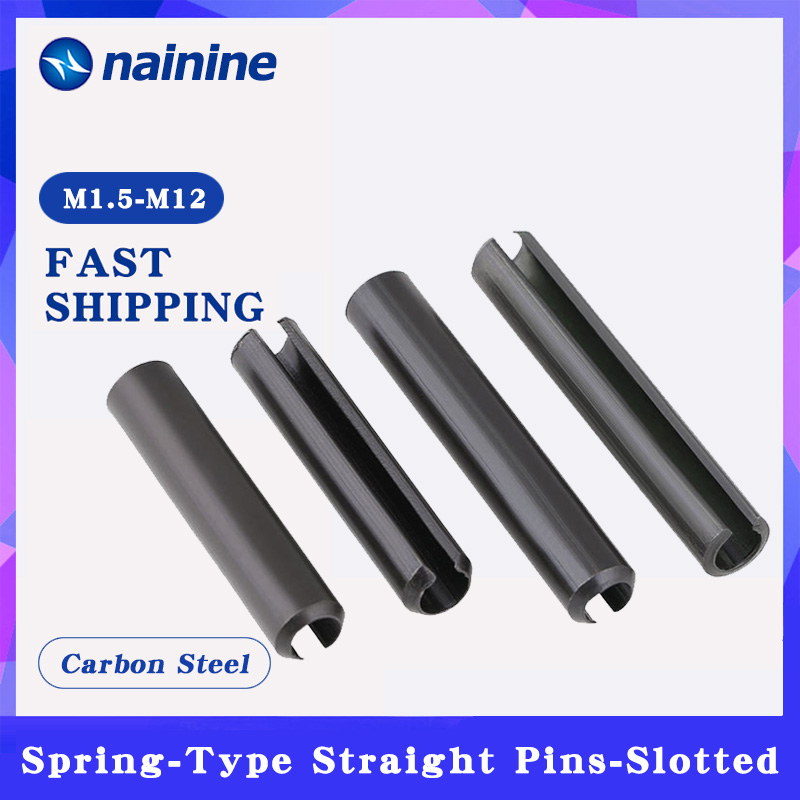 50/100Pcs M1.5-M12 GB879 Spring-Type Straight Pins Steel Spring Elastic Cylindrical Cotter Pin Dowel HW353