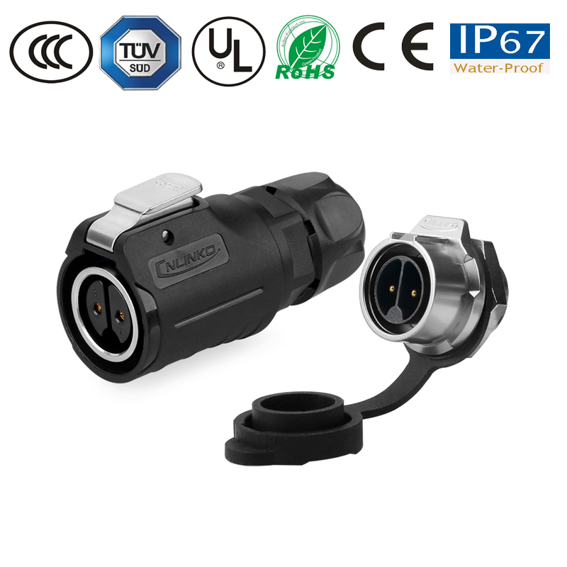 IP67 M16 2/3/4/5/7/8/9 pin waterproof connector circular female plug male socket monitor electronics power cable/panel connector|Connectors| |  - title=